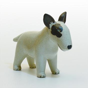Bullterrier, Lisa Larson (Gustavsberg) - Art Pottery