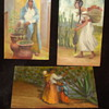 Mexican folk art miniature oil paintings