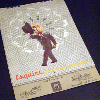 1947 Esquire Men's Fashion Calendar