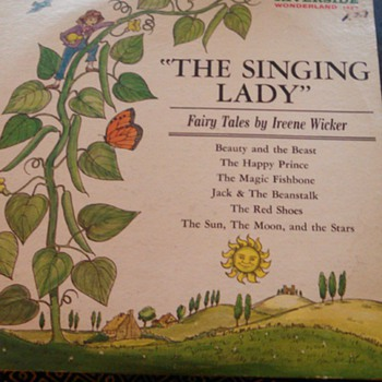 """The Singing Lady"" Fairy Tales by Ireene Wicker ie: beauty and the Beast"" Jack and the Beanstalk, The Sun the Moon and The Star - Records"