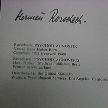 10 HERMANN RORSCHACH PLATES 1948