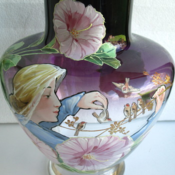 Harrach Glass Vase by Pohl..c1900 - Art Glass