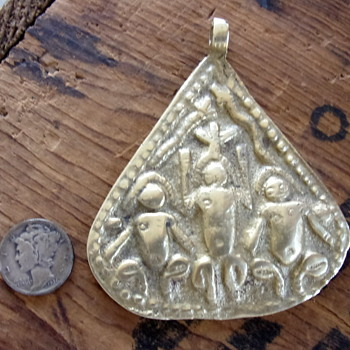 Brass Amulet/Pendant  - Costume Jewelry
