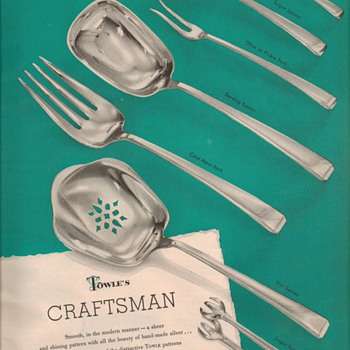 1950 Towle Sterling Advertisement - Craftsman - Advertising