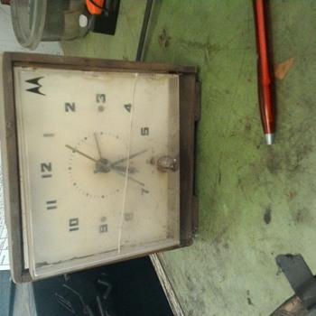 Vintage Motorola alarm clock