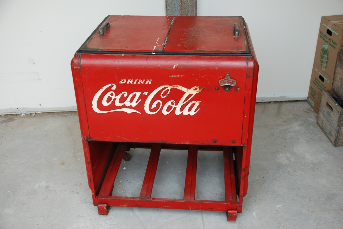 Nice Old Large Store Coca Cola Cooler | Collectors Weekly