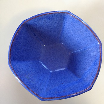 Bright Blue awesome bowl - Art Pottery