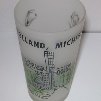 Holland, Michigan Souvenir Glass