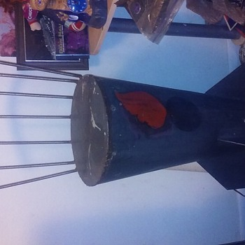 Vintage 500 pound Bombshell Barstool - Military and Wartime