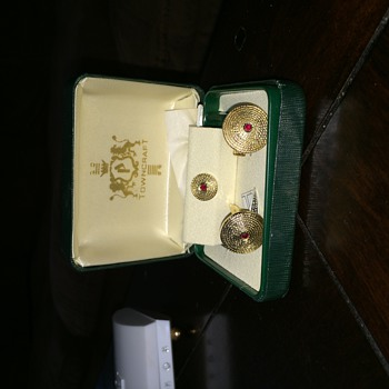 Vintage Cufflinks and Tie Chain - Accessories