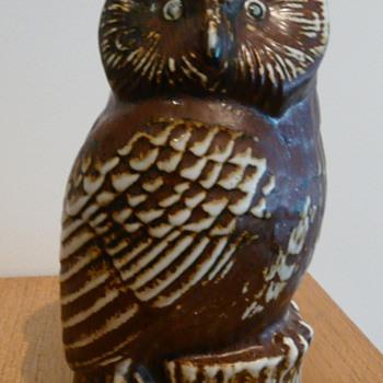 A GUSTAVSBERG OWL  - Art Pottery