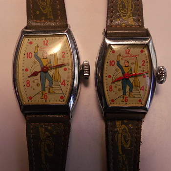 1954 Ingraham Rocky Jones Space Ranger Wrist Watches - Wristwatches