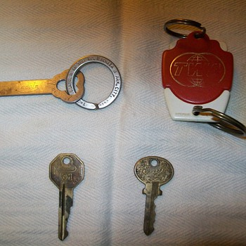 Keys and a key ring - Advertising