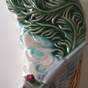 Majolica Bird Vase/Wall Pocket - Vintage? - Pottery