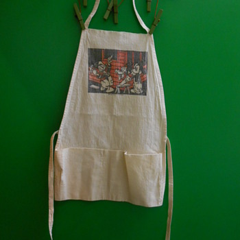Disney child's tool apron w/Mickey & Donald~Anyone have the vintage? - Advertising