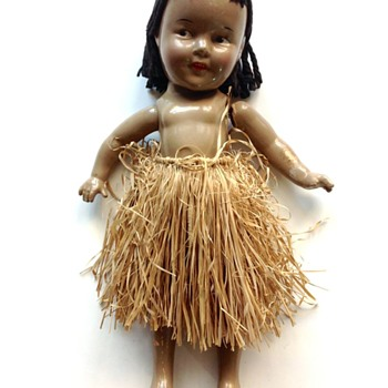 Shirley Temple Hawaiian Hawaii Hula Doll
