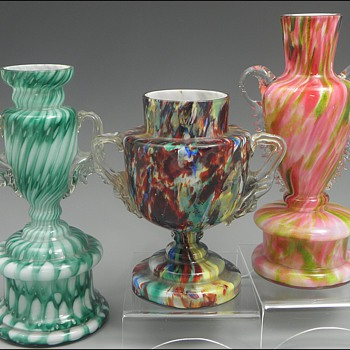 More Bohemian Trophy / Posy Vases - Art Glass