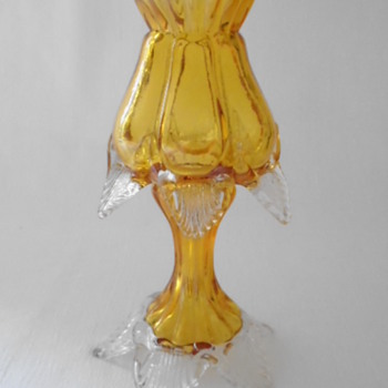 Welz Translucent Glass Night Light, Candle Holder or Vase - Art Glass