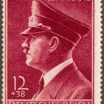 1938 - Adolf Hitler Birthday Stamp and Postmark - Stamps