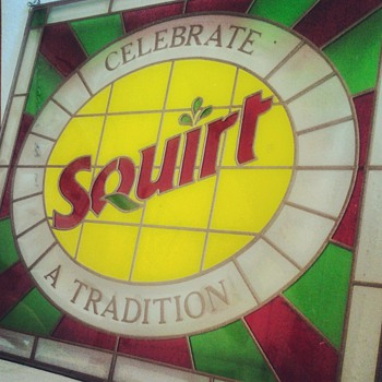 Squirt Leaded Glass Hanging Sign - Signs