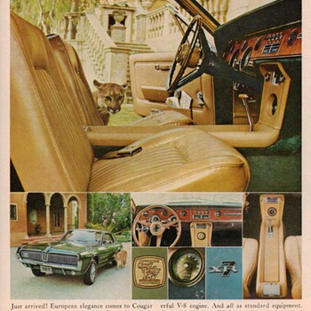1967 Mercury Cougar XR-7 page ad - Advertising