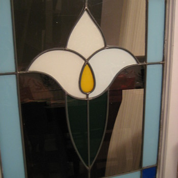 Leaded Glass Tulip design (early 1900's)