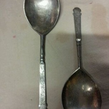 unknown antique spoon - Sterling Silver