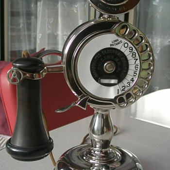 1905 Automatic Electric Co Strowger Candlestick Telephone