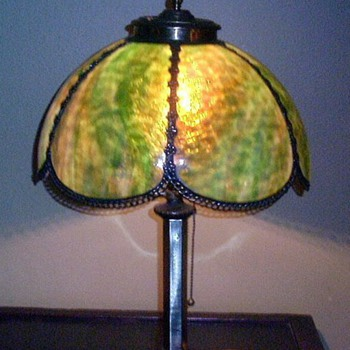Antique Slag Lamp