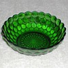 Bubble Pattern Green Glass Bowl