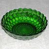 Bubble Pattern Green Glass Bowl