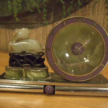 GUBELIN LUCERN JADE FOO DOG DECO CLOCK