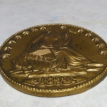 LARGE WOOD COIN