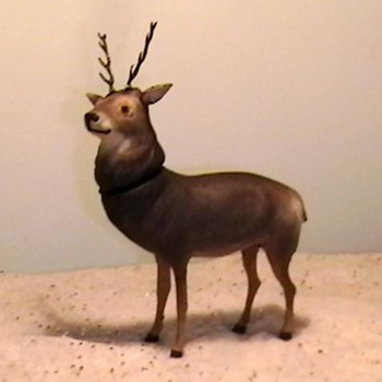 1920&#039;s-1930&#039;s German Reindeer Candy Container - Christmas