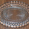 Anchor Hocking Bubble Glass, clear oval plate & dessert dish
