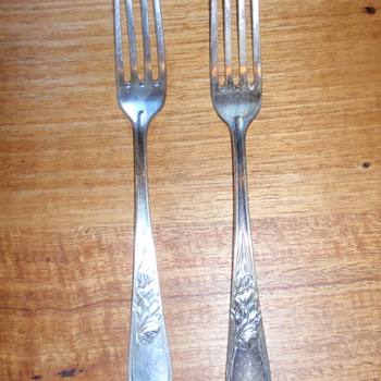 Lovely Norblist art Deco forks flatware cutlery - Kitchen