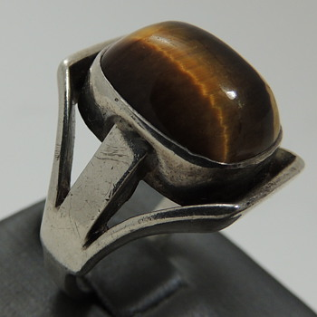 Tiger's Eye and 835 Silver Ring - Fine Jewelry