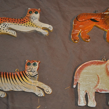 Handpainted Wood Animals