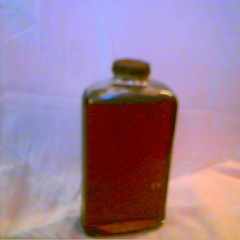 unknown origin bottle of oil