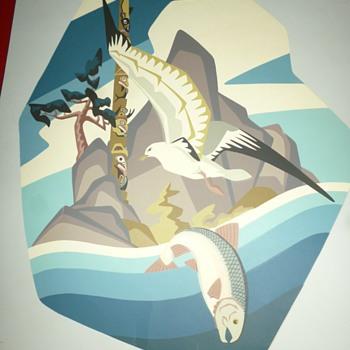 thor hansen (thorkild conrad hansen) silkscreen prints - Posters and Prints
