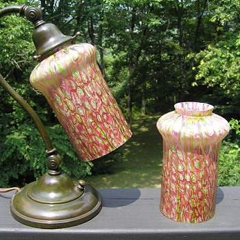 2 Bohemian Glass Shades - Art Glass
