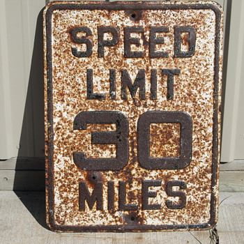 Crusty Speed Limit Sign - Signs