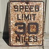Crusty Speed Limit Sign