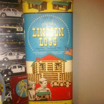 "Set 2C ""Original Lincoln Logs"" 91 Pieces - Toys"
