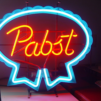 Pabst neon sign ,I believe it is an older model - Breweriana