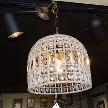 Egyptian Crystal Metal Hanging Lamp Dome - Lamps