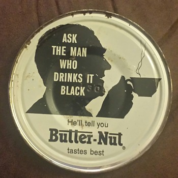 Butter-Nut Coffee Tin Lid - Advertising