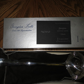 Silver Ladle Wedding Gift - 5-22-76