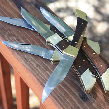 "5 PAKISTANI ""SLIM-LINE"" FOLDING LOCKBACK KNIVES"