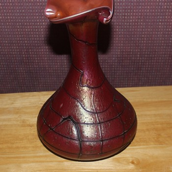 Pallme Konig Red Vase - Art Glass